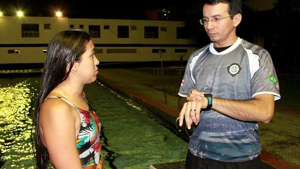 Maria Emília etécnico, Natação do AM (Foto: Anderson Silva/Globoesporte.com)