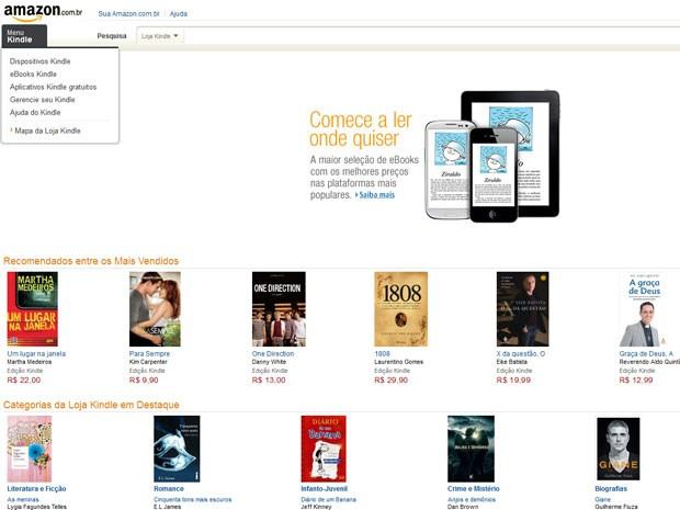 G1 - Amazon lança site em português e anuncia Kindle no