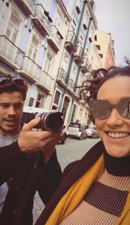 Débora Nascimento e José Loreto em Lisboa (Foto: Reprodução Instagram)