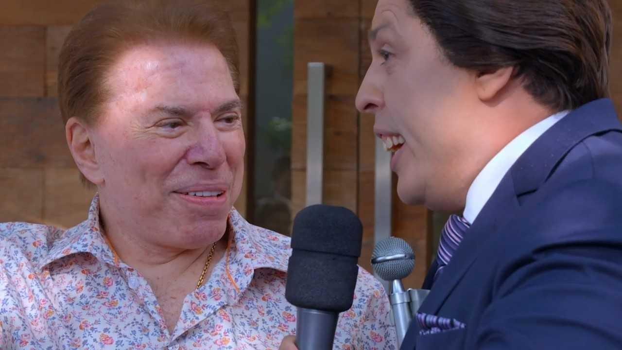 No episdio de estreia da nova temporada, Cear encontra com Slvio Santos e consegue uma entrevista (Foto: Reproduo/Multishow)