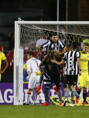 Sassá comemora gol do Botafogo contra o São Paulo