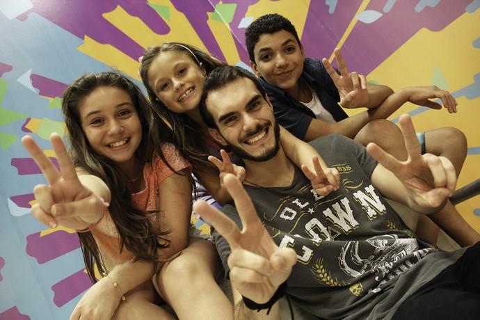 Marcelo Archetti Rafa Gomes Pérola Crepaldi Wagner Barreto The Voice (Foto: Guilherme Artigas/ RPC)