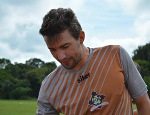 Thiago Rocha - goleiro do Genus (Foto: Emanuele Madeira/GloboEsporte.com)