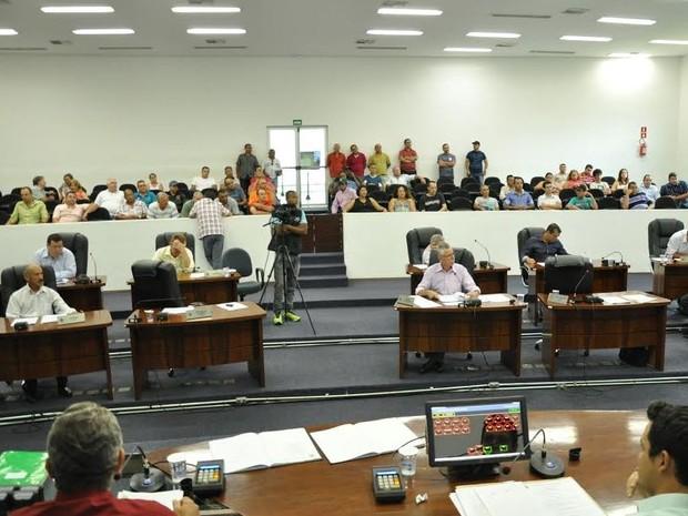 Sessão da Câmara de Santa Bárbara d'Oeste (Foto: Fernando Campos/Câmara de Santa Bárbara)