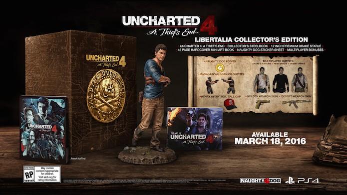 Libertalia Collectors Edition trará estátua exclusiva (Foto: Divulgação/Naughty Dog)