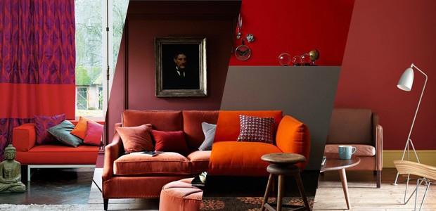 Como usar vermelho na decoração da sala de estar (Foto: Casa Vogue)
