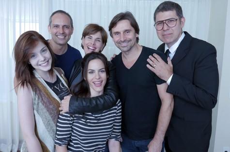 Pablo Uranga com o elenco do filme 'Rota de fuga' (Foto: Arquivo pessoal)