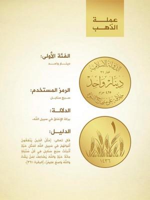 Ilustração de uma das moedas apresentadas pelo Estado Islâmico (Foto: Reprodução/Twitter/Zaid Benjamin)