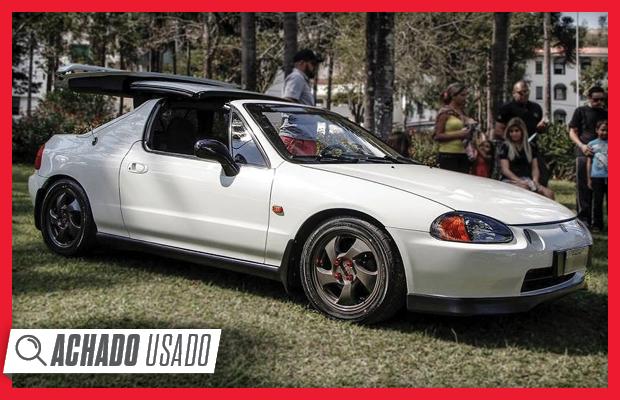 Honda Civic CRX 1993 chama atenção pelo teto retrátil (Foto: Reprodução)