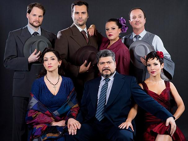 No elenco: Amanda Acosta, Andrea Marquee, Anna Toledo, Jonathas Joba, Leandro Luna, Sérgio Rufino e Guilherme Terra  (Foto: João Caldas)