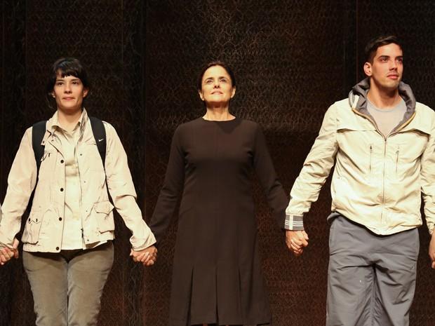 Marieta Severo e Felipe de Carolis em ação em peça na Zona Sul do Rio (Foto: Roberto Filho/ Brazil News)