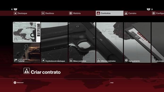 Selecione os contratos para começar (Foto: Reprodução/Felipe Vinha)