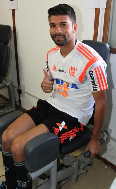 Eduardo da Silva, Ninho do Urubu, treino, Flamengo (Foto: Gilvan de Souza/ Fla Imagem)