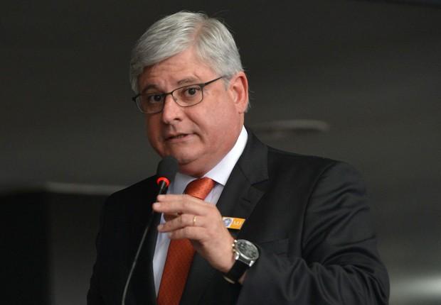 O procurador-geral da República, Rodrigo Janot, discursa durante solenidade (Foto: José Cruz/Agência Brasil)