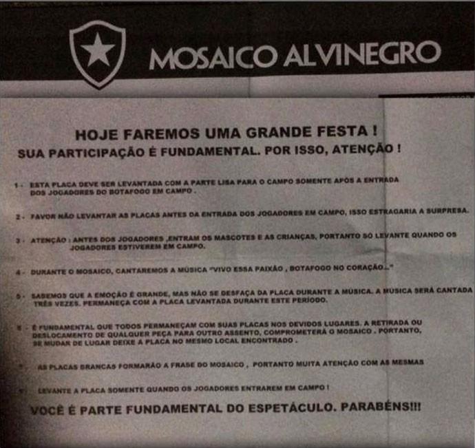 Botafogo Mosaico (Foto: Reprodução / Internet)