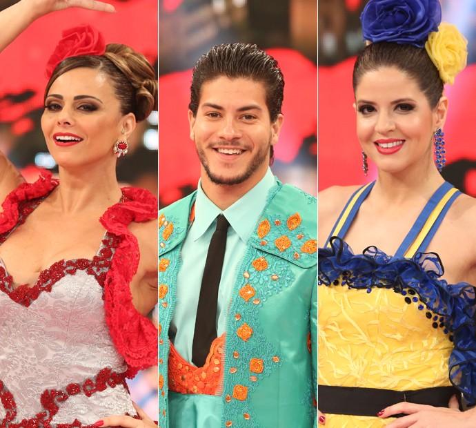 Viviane Araújo, Arthur Aguiar e Mariana Santos são os finalistas do Dança 2015 (Foto: Carol Caminha / Gshow)