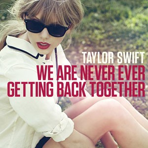 Capa de 'We are never ever getting back together', single de Taylor Swift (Foto: Reprodução)