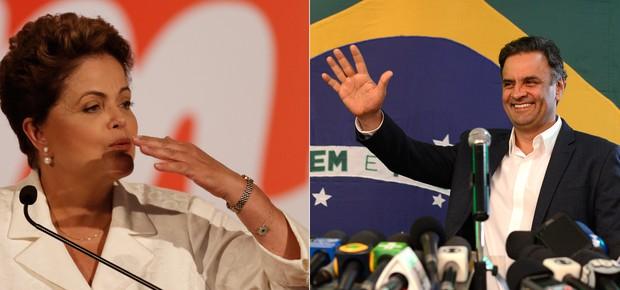 Dilma Rousseff e Aécio Neves (Foto: AP Photo)