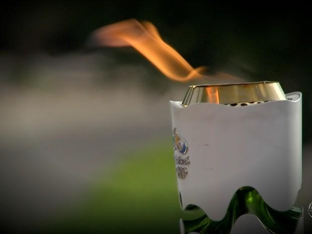 Tocha olímpica MS (Foto: Reprodução/TV Morena)