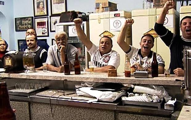 Torcida Corinthians bar 2 (Foto: Reprodução SporTV)