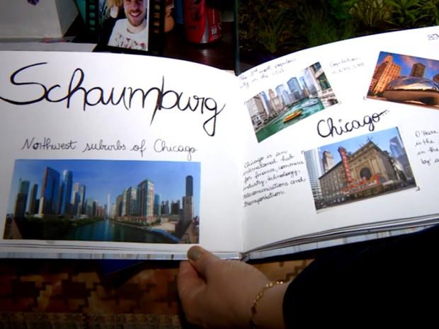 Estudante de Campinas selecionou fotos do destino do seu intercâmbio: Chicago (Foto: Reprodução / EPTV)