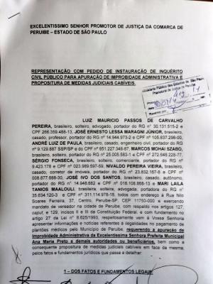 Protocolo foi entregue nesta terça (Foto: Reprodução)
