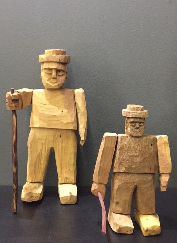 A Marco500 traz peças de Luiz Benício e Simone Souza esculpidas em troncos. (Foto: Casa e Jardim)