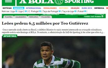 Atacante Teo Gutiérrez entra no radar do Atlético-MG, diz jornal português
