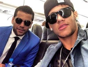 Neymar e Daniel alves seleção  (Foto: Reprodução / Instagram)