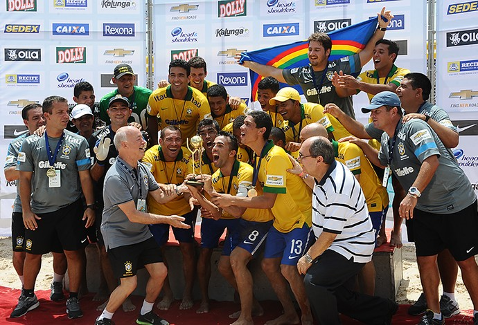 brasil campeão copa das nações de futebol de areia (Foto: Armando Artoni)