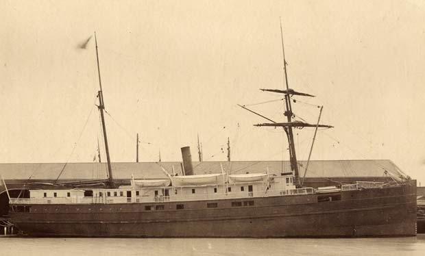 Imagem mostra o navio City of Chester, que colidiu com o navio Oceanic na costa da Califórnia em 1888 (Foto: Credit: San Francisco Maritime National Historic Park K01.2.571PL)