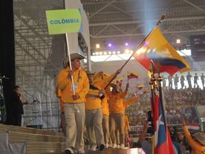 Alunos da Colômbia esperam vencer em 10 modalidades (Foto: Maurício Nascimento)