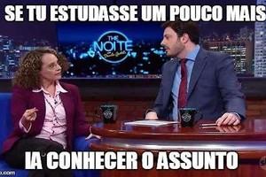 Luciana Genro (PSOL) é a favor da educação... de Danilo Gentili (Foto: Reprodução/Twitter)