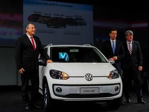 Cross up! é apresentado pela Volkswagen no Salão do Automóvel de São Paulo (Foto: Alan Morici/G1)