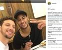 """Elano almoça com Neymar e brinca: """"Quem sabe no próximo você paga"""""""