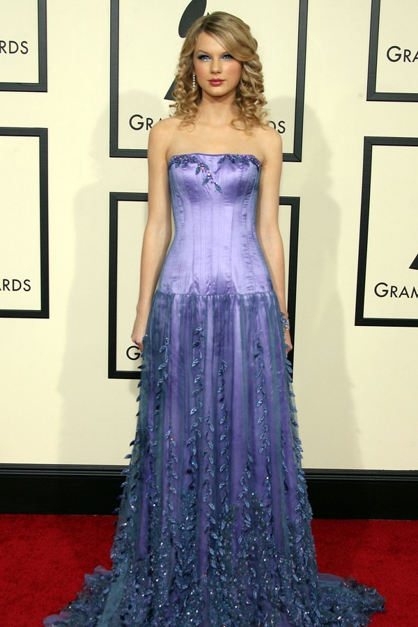 Taylor Swift no Grammy de 2008 (Foto: Getty Images)