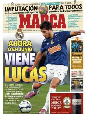 Capa do Marca - Real Madrid interessado em Lucas do Cruzeiro (Foto: Divulgação)