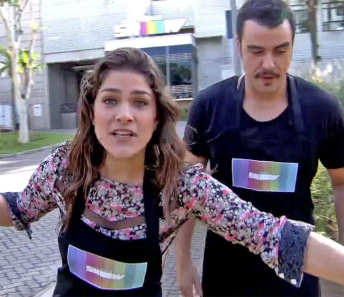 Priscila Fantin cozinha ao vivo no 'Vídeo Show' (Foto: Vídeo Show / TV Globo)