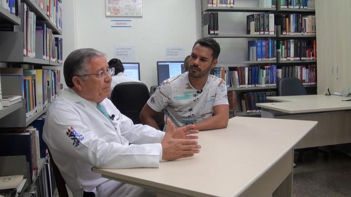 O pesquisador Gildásio Daltro apresenta os resultados da pesquisa  (Foto: TV Bahia)