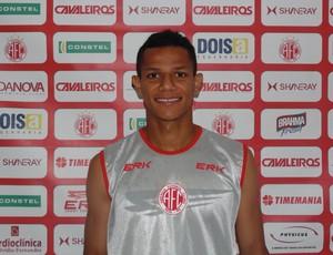 Adriano Pardal, atacante do América-RN (Foto: Edmo Nathan/Divulgação)