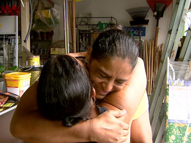 Após episódio, Rosangela e Leandra acabaram virando amigas em Jaboticabal (Foto: Reprodução / EPTV)