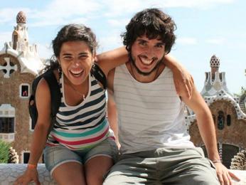 Cíntia Magalhães e William Andery em Barcelona (Foto: Cíntia Magalhães/Reprodução)