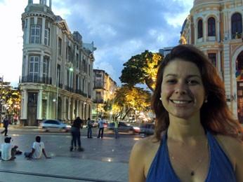 Turista carioca acredita que projeto vai favorecer interação entre os moradores. (Foto: Luna Markman/ G1)