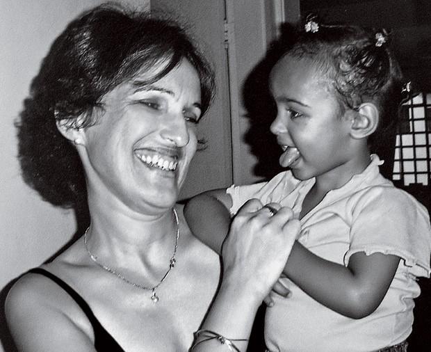 Gina Yara com a filha (Foto: Arquivo pessoal)