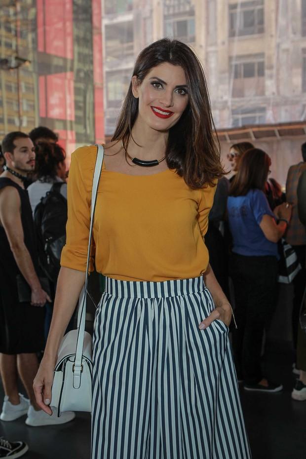 Isabella Fiorentino na SPFW (Foto: Raphael Castello/AgNews)