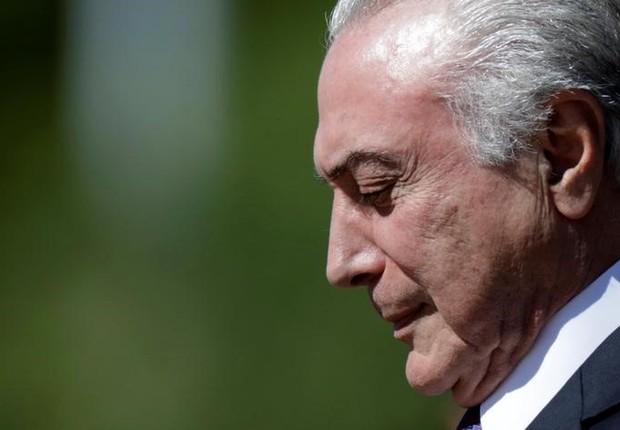 Michel Temer durante cerimônia em Brasília (Foto: Ueslei Marcelino/REUTERS)