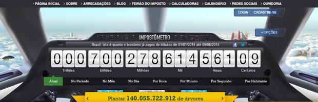 Impostômetro bate R$ 700 bilhões (Foto: Reprodução)