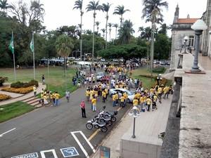 Recepção dos calouros da Esalq, Campus da USP em Piracicaba (Foto: Leon Botão/G1)
