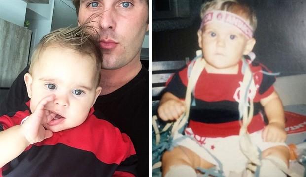 Thiago Gagliasso compara foto do filho com uma sua da infância (Foto: Reprodução)