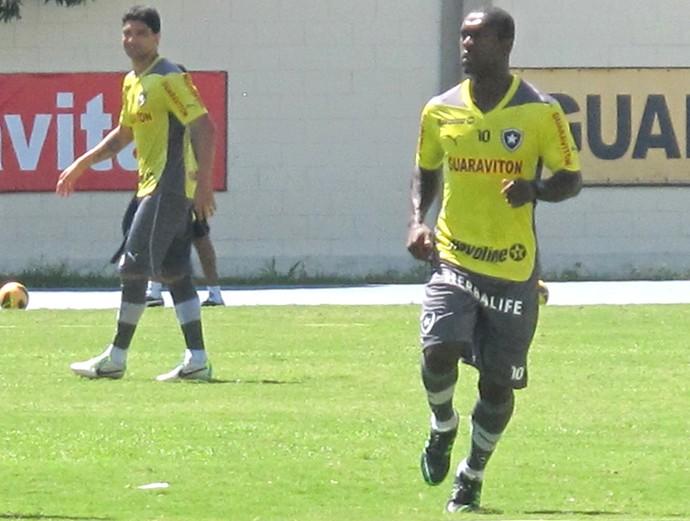 Treino Botafogo Seedorf (Foto: Thales Soares)